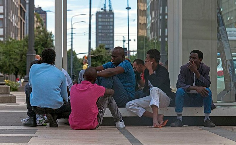 African immigrants in Milan, Italy. Photo Credit: Daniel Case, Wikimedia Commons.