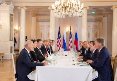 President Donald J. Trump and President Vladimir Putin of the Russian Federation hold a working lunch | July 16, 2018 (Official White House Photo by Shealah Craighead)