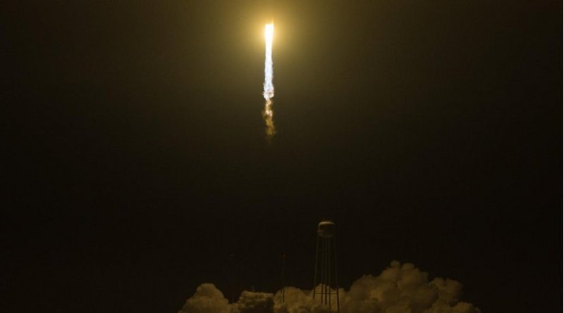 HaloSat launched from NASA's Wallops Flight Facility in Virginia on May 21, 2018, aboard a Cygnus spacecraft from Orbital ATK, now known as Northrop Grumman, on the company's Antares rocket. HaloSat will study the halo of gas around the Milky Way as part of the search for the universe's missing matter. Credit NASA/Aubrey Gemignani