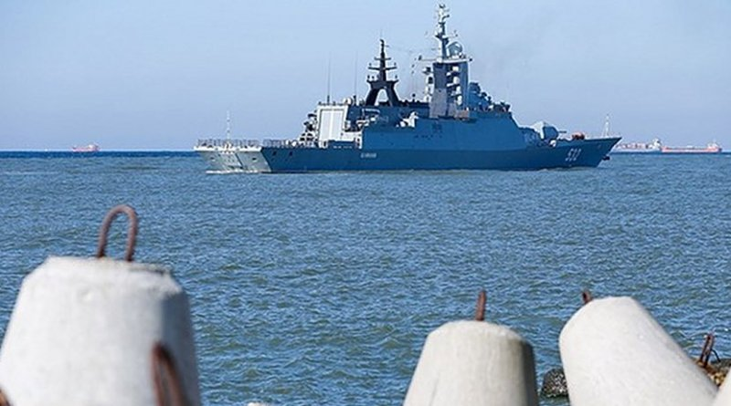Russian Navy enroute to Syria. Photo Credit: FARS News Agency.