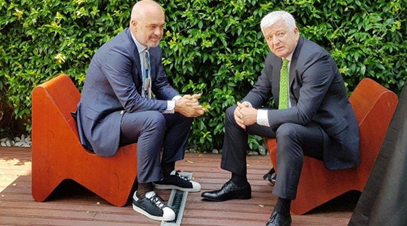 Albanian PM Edi Rama(left) and Montenegrin Pm Dusko Markovic. Photo: gov.me.