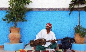 Street musician in Morocco.