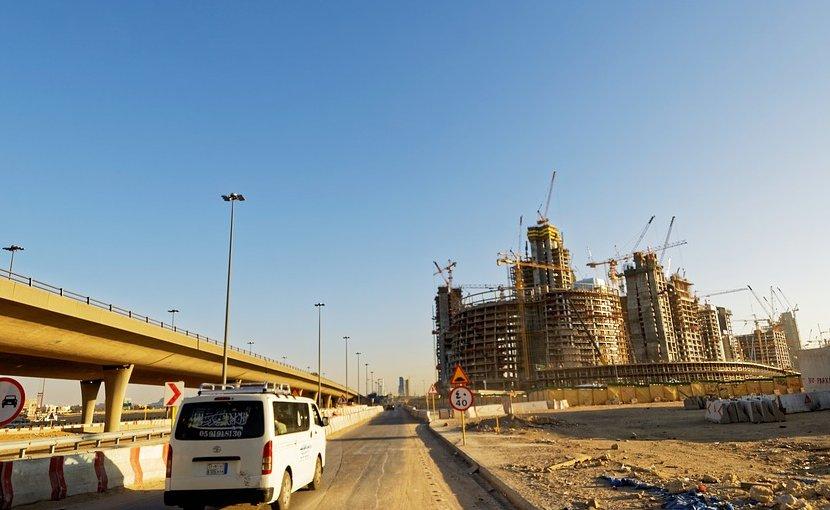 Construction in Riyadh, Saudi Arabia.