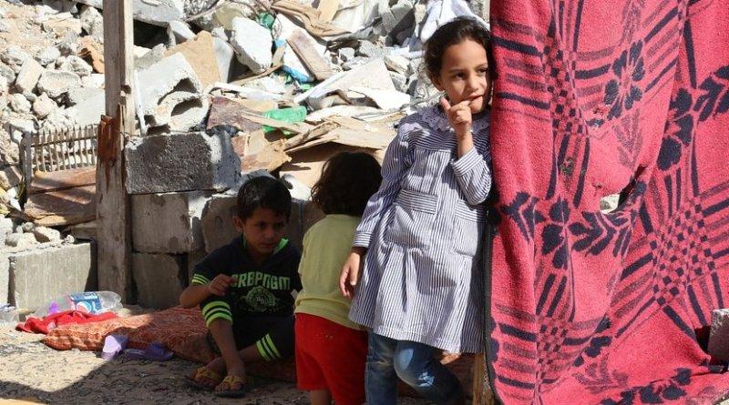 Palestinian children in Gaza.