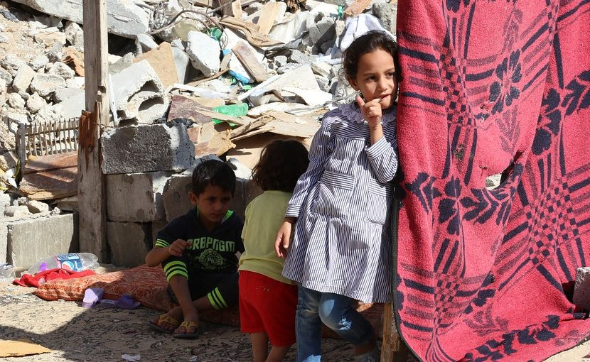 Palestinian children in Gaza.