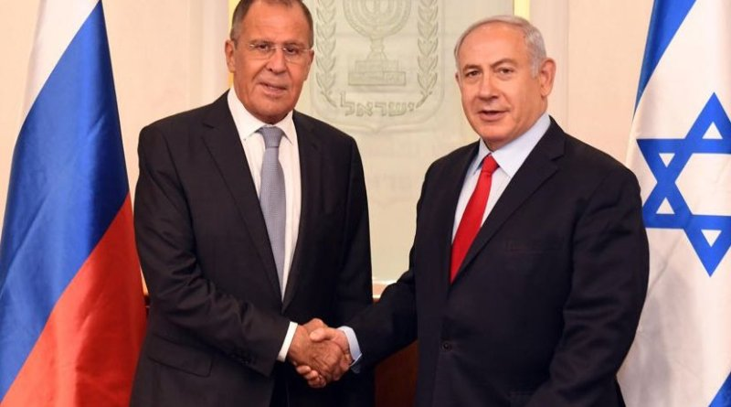 Russia's Foreign Minister Sergey Lavrov with Prime Minister of the State of Israel Benjamin Netanyahu. Photo Credit: Russia's Foreign Ministry.