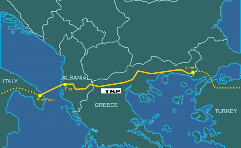 Trans-Adriatic Pipeline. Credit: Genti77, Wikipedia Commons.
