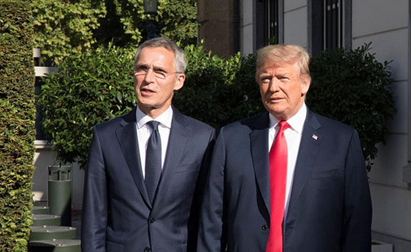 NATO Secretary General, Jens Stoltenberg and US President Donald Trump. Photo Credit: NATO.