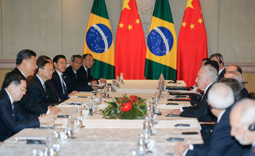 Chinese and Brazilian leaders meet. Photo Credit: Cesar Itiberê / PR/Agência Brasil