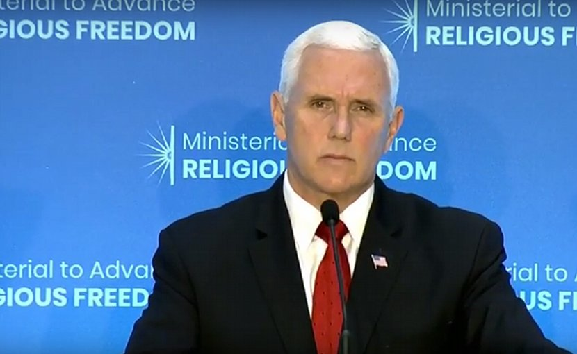 US Vice-President Mike Pence. Photo Credit: White House video screenshot.