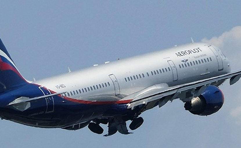 A Russian Aeroflot airplane