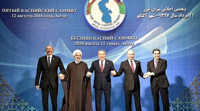 Participants at Fifth Caspian Summit. Photo Credit: Kremlin.ru