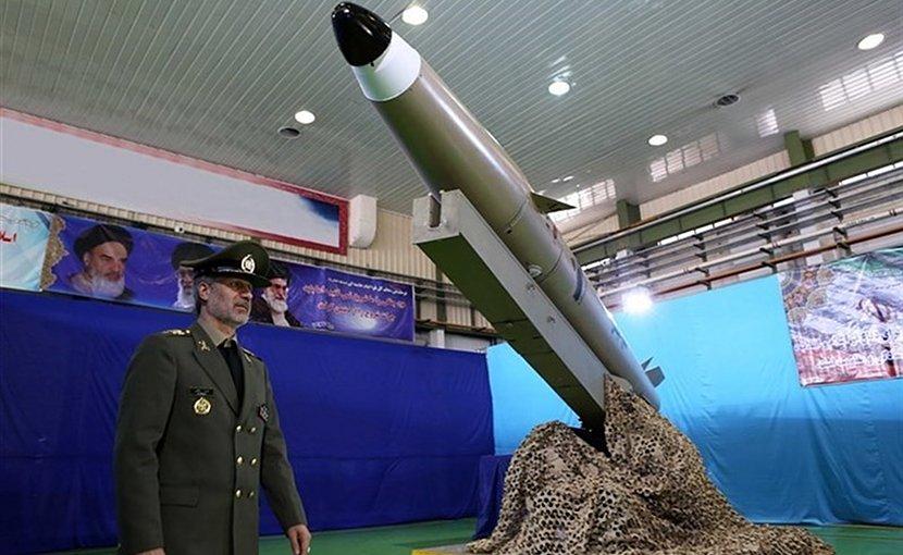 "Iran's ""Fateh"" (Conqueror) ballistic missile. Photo Credit: Tasnim News Agency."