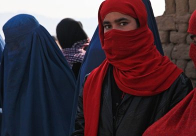 Afghanistan girl in burqa.