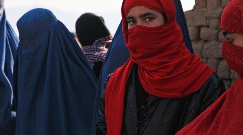 Afghanistan girl in burqa.