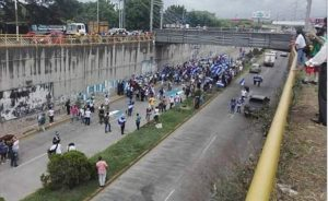 Opposition protest numbers are rapidly dwindling. This puny march was observed in Managua on July 26.