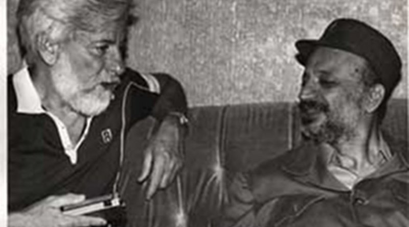Avnery with Arafat in Beirut - July 1982. Photo Credit: Uri Avnery