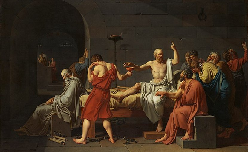 Jacques Louis David. 'The Death of Socrates. Oil on canvas. Wikimedia Commons.