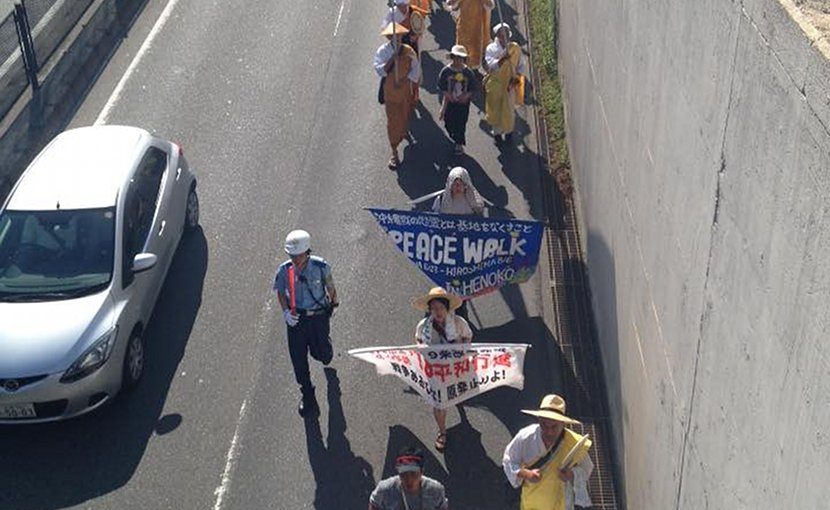 Okinawa to Hiroshima Peace Walk. Photo Credit: Maya Evans