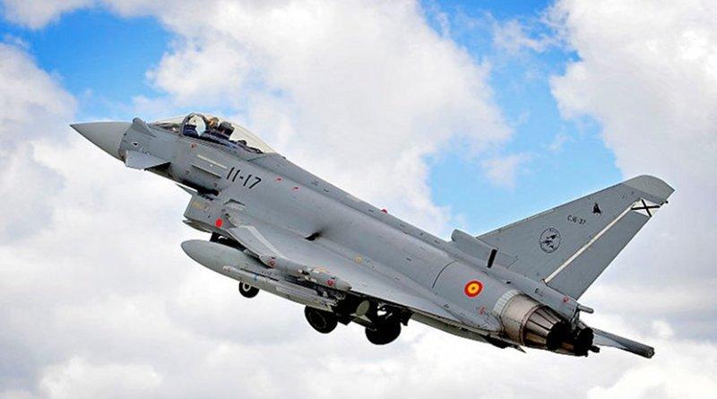 Spanish Eurofighter. Photo Credit: RAF, SAC Helen Farrer, Wikimedia Commons.