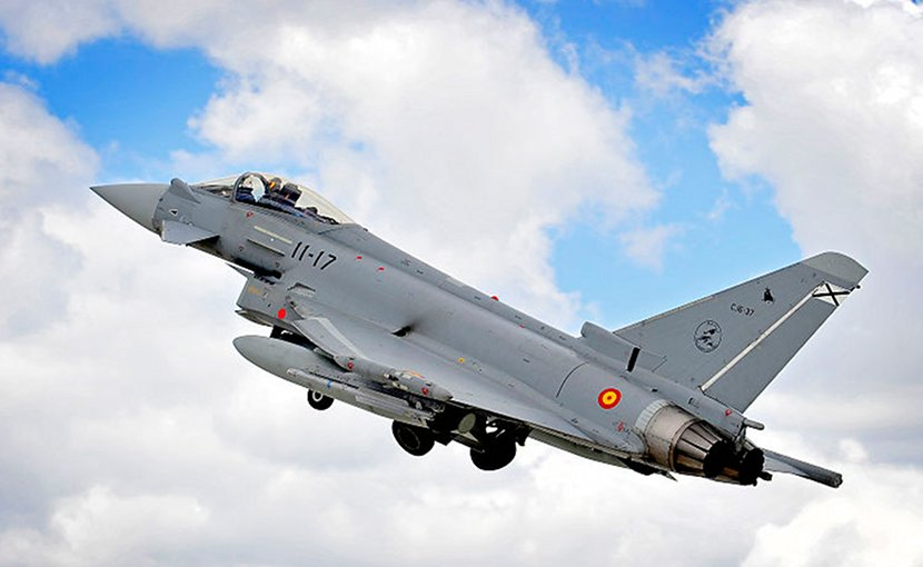 Spanish Eurofighter. Photo Credit: RAF, SAC Helen Farrer, Wikimedia Commons.