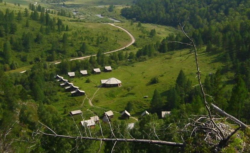 This is a view of the valley from above the Denisova Cave archaeological site, Russia. Credit B. Viola, MPI f. Evolutionary Anthropology