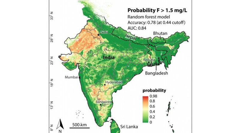 In India, the fluoride concentration in drinking water is higher than the threshold for health implications. A new computer model shows the regions in which people are particularly at risk.