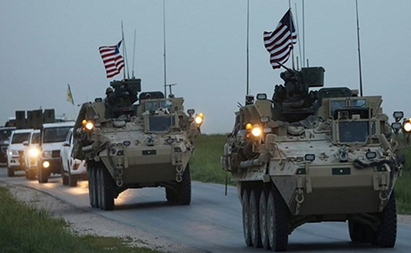 US convoy. Photo Credit: Fars News Agency.