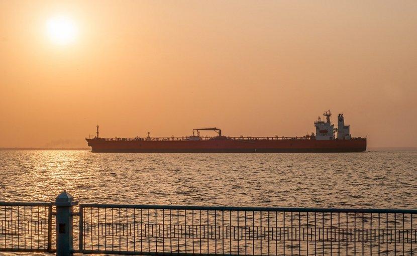 Oil tanker in Maracaibo, Venezuela.