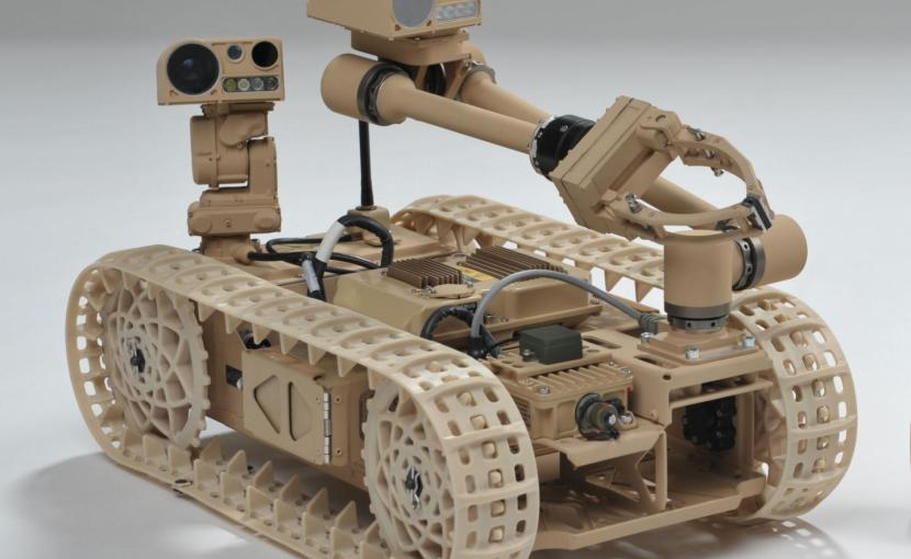 Researchers explore new techniques using the Advanced Explosive Ordnance Disposal Robotic System Increment 1 Platform. Credit (Photo Credit: Courtesy Northrop Grumman Corporation)