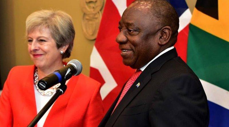 UK's Theresa May and South Africa's Cyril Ramaphosa. Photo Credit: SA News