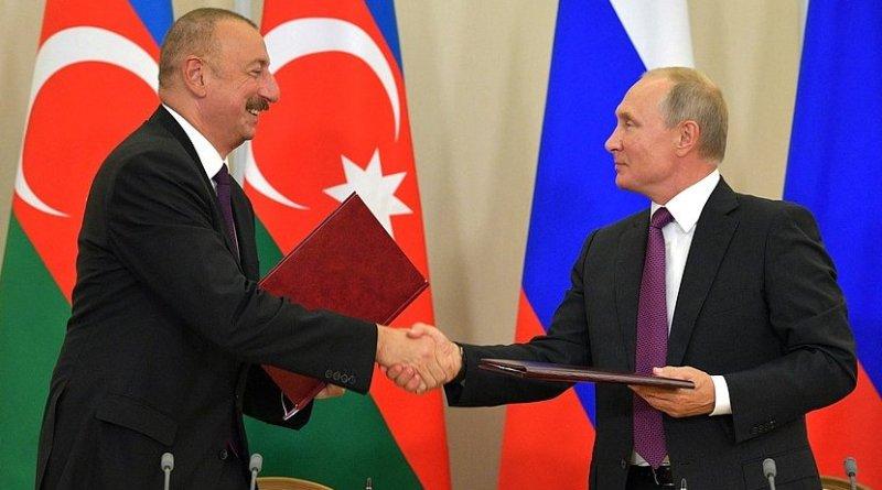 Russia President Vladimir Putin and Azerbaijan President Ilham Aliyev. Photo Credit: Kremlin.ru