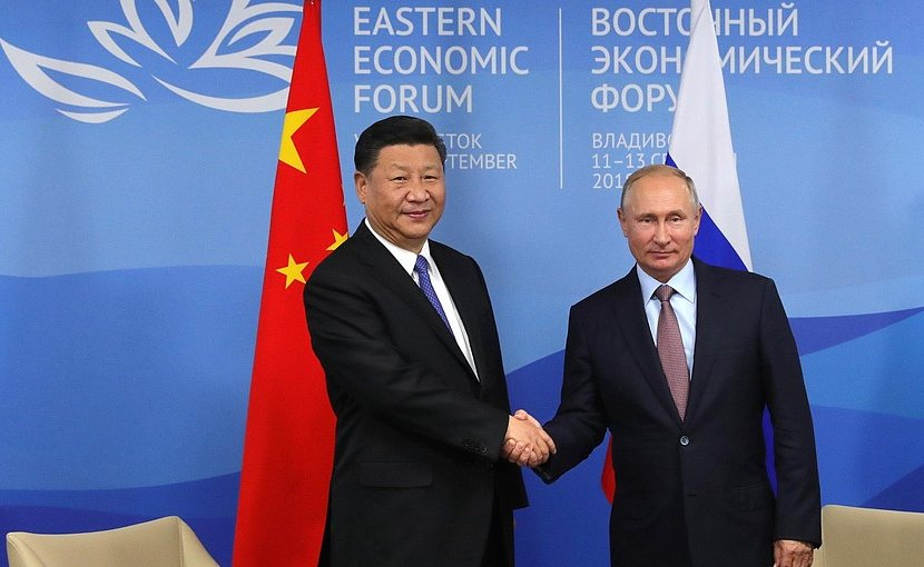 Russia's Vladimir Putin with China's Xi Jinping. Photo Credit: Kremlin.ru