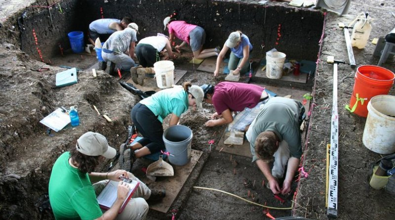 Excavations at the Debra L. Friedkin site 2016. Credit Center for the Study of the First Americans, Texas A&M University