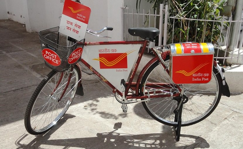 india postman letter bicycle