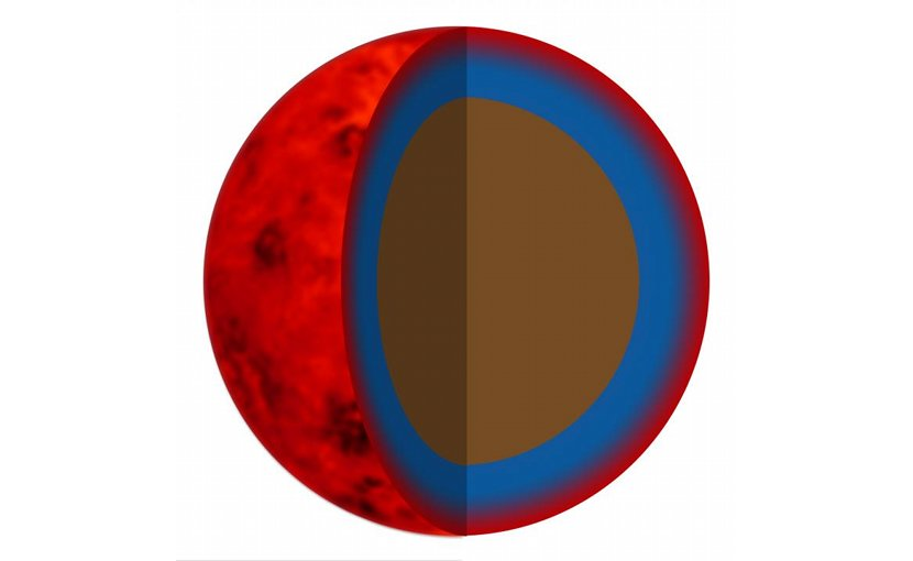Possible model of exoplanets with a rocky core and gaseous atmosphere (artist's impression). Credit UZH