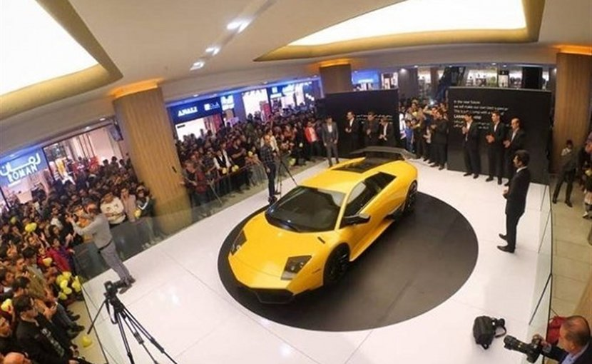 Iranian Engineers Unveil Reverse-Engineered Lamborghini. Photo Credit: Tasnim News Agency.