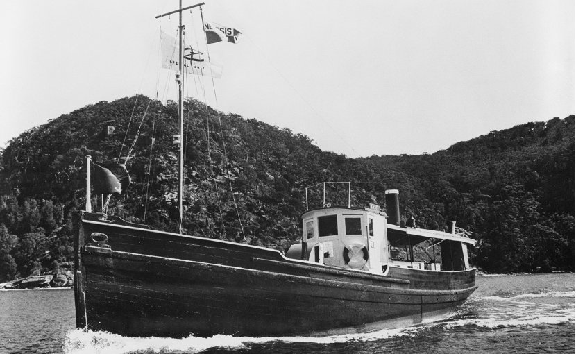 The Krait, the vessel which carried the men of Z Special Unit on Operation Jaywick, the successful raid on Singapore Harbour on the night of 1943-09-26. Photo Credit: Australian War Memorial, Wikimedia Commons.
