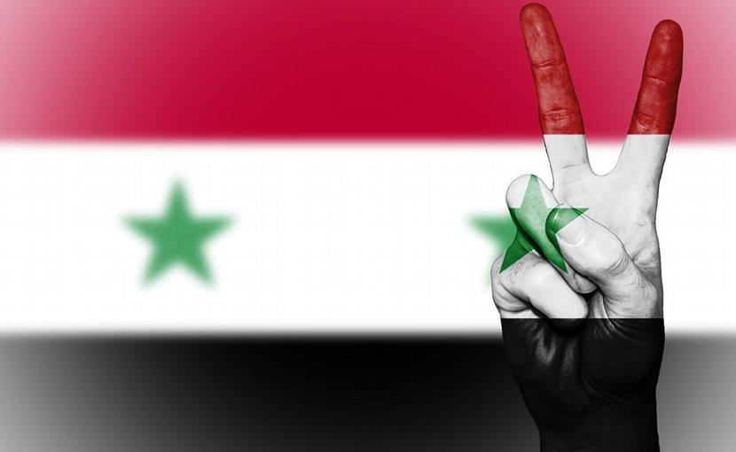 peace syria flag