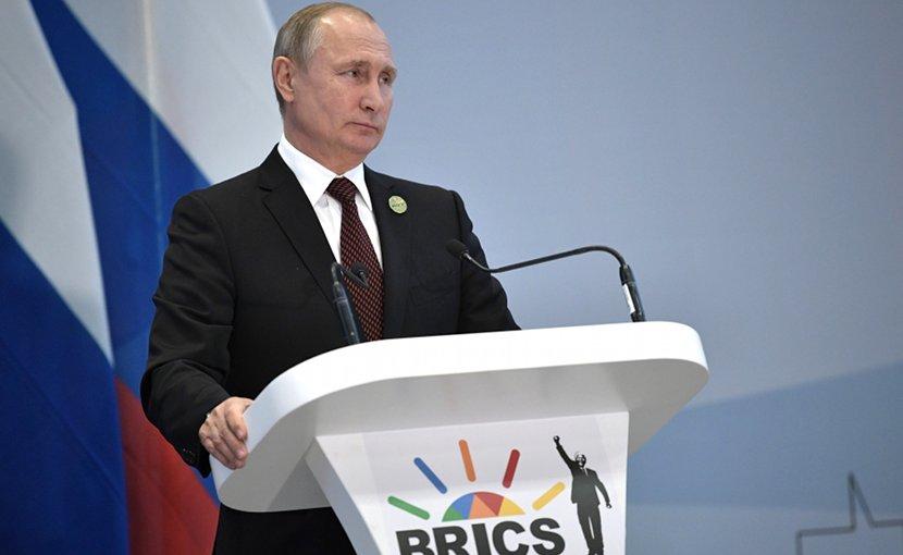 Russian President Vladimir Putin at BRICS meeting. Photo Credit: Kremlin.ru