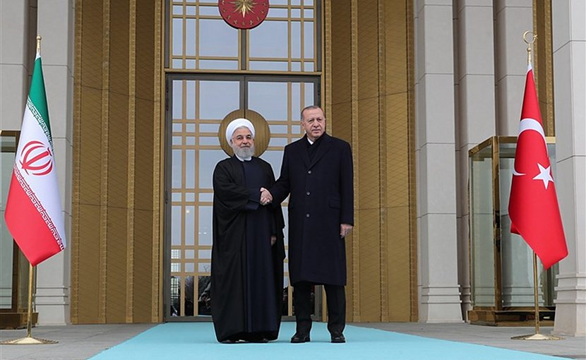 Iranian President Hassan Rouhani and his Turkish counterpart Recep Tayyip Erdogan. Photo Credit: Tasnim News Agency
