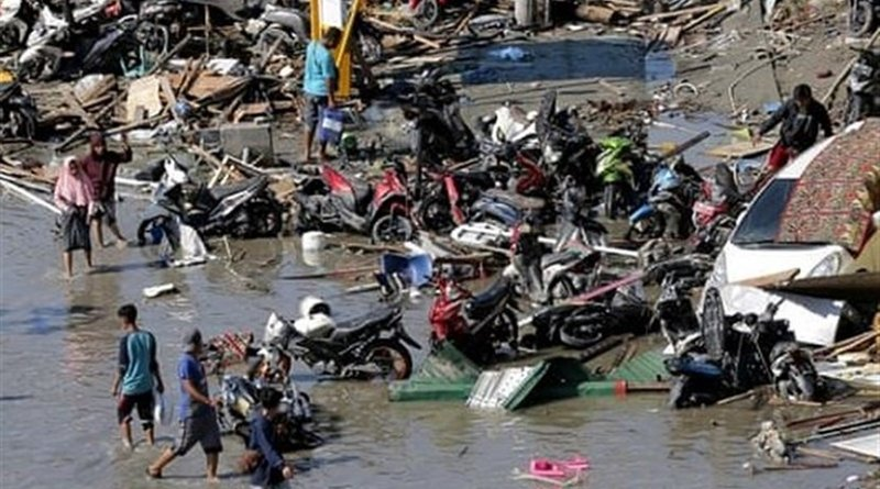 Aftermath of December 23 tsunami in Indonesia. Photo Credit: Tasnim News Agency