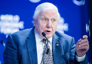 Sir David Attenborough. Photo Credit: World Economic Forum / Boris Baldinger