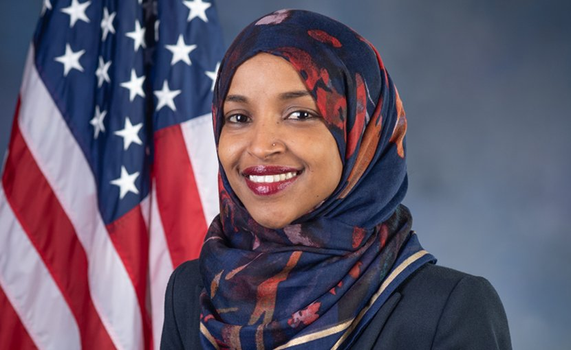 Rep. Ilhan Omar. Photo Credit: Kristie Boyd; U.S. House Office of Photoraphy, Wikipedia Commons.