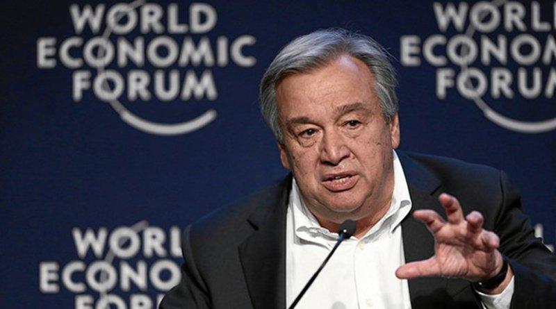 UN Secretary-General Antonio Guterres. Photo Credit: Moritz Hager, World Economic Forum