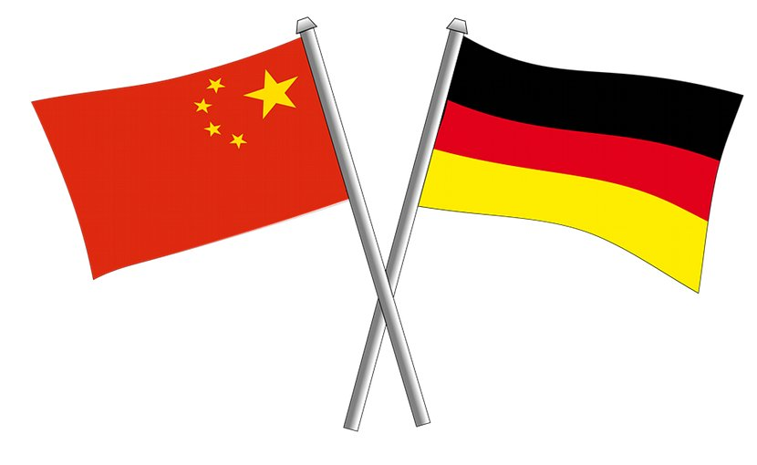 Germany China flag