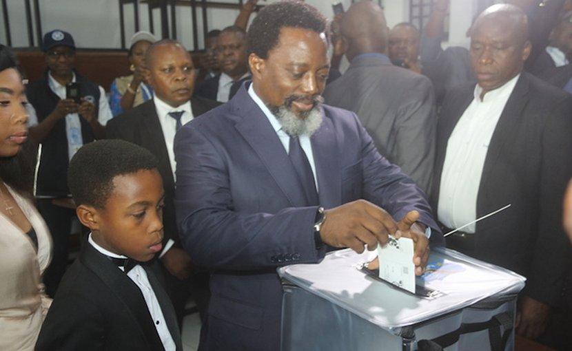 DR Congo President Kabila casts his vote during Presidential and Legislative elections in Kinshasa. Credit: MONUSCO/John Bopengo.