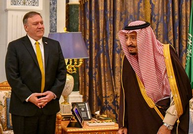 U.S. Secretary of State Michael R. Pompeo meets with Saudi King Salman bin Abdul-Aziz in Riyadh, Saudi Arabia, on January 14, 2019. Photo Credit: State Department photo
