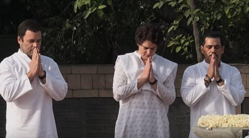 (L to R)ː India's Rahul Gandhi, Priyanka Gandhi, Robert Vadra. Photo Credit: YouTube, Rahul Gandhi, Wikimedia Commons.