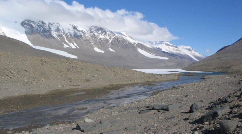 A stream in the McMurdo Dry Valleys, Antarctica. Credit University of Colorado Boulder